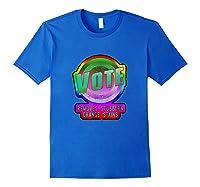 Anti Trump Vote Detergent Funny Watercolor Vintage T Shirt Royal Blue
