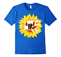 Share Love With Sunflower For And Shirts Royal Blue