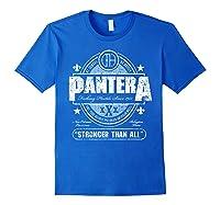Pantera Stronger Than All Beer Mat Shirts Royal Blue