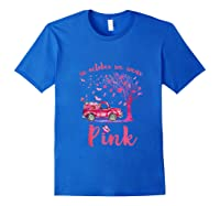 In October We Wear Pink Truck And Pumpkin Breast Cancer Tank Top Shirts Royal Blue