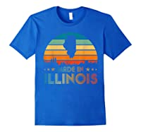 Vintage Made In Illinois Shirts Royal Blue