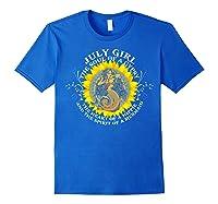 July Girl The Soul Of A Mermaid Tshirt Birthday Gifts Royal Blue