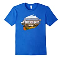 Traverse City Michigan Shirt For Midwest Gifts T Shirt Royal Blue