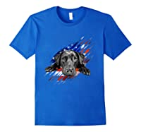 Black Labrador Usa Flag Lab Owner Bird Duck Hunter Gift Shirts Royal Blue
