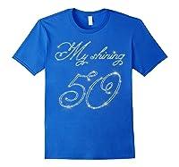 50th Birthday Gift Retro Vintage Shirt - My Shining 50 Royal Blue