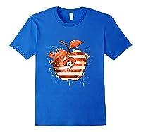 Oklahoma State Cow Nation Flag T Shirt Royal Blue