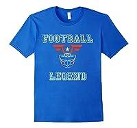 Football Legend Funny American Patriot Team Gift Shirts Royal Blue