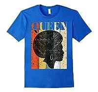 African American Queen T Shirt Black History Urban Soul Tees Royal Blue