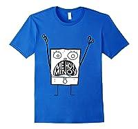 Spongebob Squarepants Doodlebob Me Hoy Minoy Mouth T-shirt Royal Blue