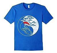 Spirit Soul Yin Yang Bonsai Tree Meditation Shirts Royal Blue