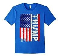 Donald Trump 2020 Vintage Usa Flag Shirts Royal Blue