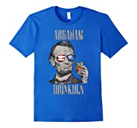4th Of July Shirts For Abraham Drinkoln Abe Lincoln Tee T Shirt Royal Blue