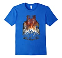 Lord Of The Rings Evil Rising Shirts Royal Blue