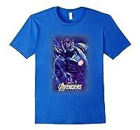 Marvel Avengers Endgame War Machine Galactic Poster T-shirt Royal Blue