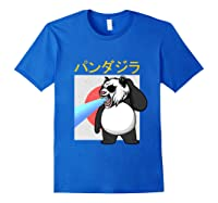 Japanese Vintage Panda Bear Retro Halloween Costume Shirts Royal Blue