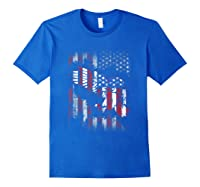 American Flag Eagle For Proud Americans On 4th July Shirts Royal Blue
