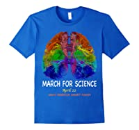 Cool Brain Science March Earth Day 2018 T Shirt Royal Blue