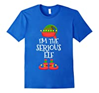 I'm The Serious Elf Christmas Xmas Funny Elf Group Costume Shirts Royal Blue