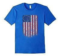 Betsy Ross Shirt 4th Of July American Flag Tshirt Royal Blue