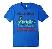 Disney Pixar Toy Story Pizza Planet Aliens T-shirt Royal Blue