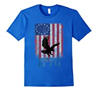 Betsy Ross Shirt 4th Of July American Flag Tshirt 1776 Eagle Royal Blue