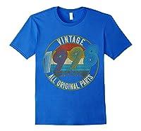 Vintage 21st Birthday Gift Shirt For Classic 1998 T-shirt Royal Blue