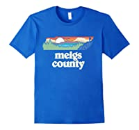 Meigs County Tennessee Outdoors Retro Nature Graphic T Shirt Royal Blue