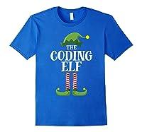 Coding Elf Matching Family Group Christmas Party Pajama Shirts Royal Blue