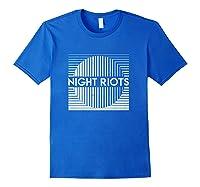 Night Riots Title Shirts Royal Blue