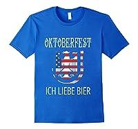 German Eagle Deutschland Us Flag Oktoberfest Shirts Royal Blue