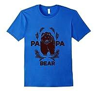 Papa Bear Vintage Bear Dad Father S Day Gift T Shirt Royal Blue