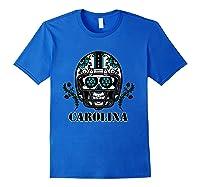 Carolina Football Helmet Sugar Skull Day Of The Dead T Shirt Royal Blue