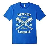 Denver Baseball, Classic Vintage Colorado Retro Fans Gift T-shirt Royal Blue