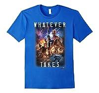 Marvel Avengers Endgame Movie Poster Whatever It Takes T-shirt Royal Blue