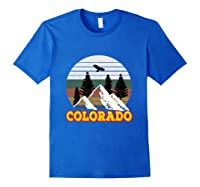Vintage Outdoor Lovers Colorado Mountains Retro T-shirt Royal Blue