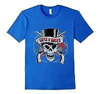 Guns N' Roses Top Hat Skull T-shirt Royal Blue