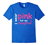 Breast Cancer Chemo Awareness Month T Shirt Royal Blue