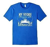 Kansas City Born In Kansas Shirts Royal Blue