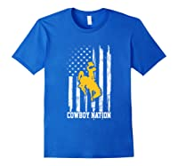 Wing Cow Nation Flag T Shirt Apparel Royal Blue