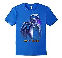 S Darth Vader Shadow Silhouette Shirts Royal Blue