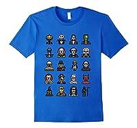 Friends Cartoon Halloween Character Scary Horror Movies T Shirt Royal Blue