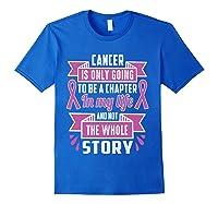 Breast Cancer Awareness Month Pink Ribbon Warrior T T Shirt Royal Blue