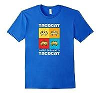 Funny Taco Cat Tacocat Mexican Hooded Shirts Royal Blue