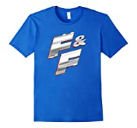 Fast Furious Red Outline Steel Logo Pullover Shirts Royal Blue