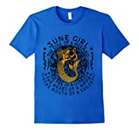 June Girl The Soul Of A Mermaid Tshirt Funny Gifts T Shirt Royal Blue