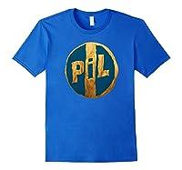 Pil Blue Gold Logo Shirts Royal Blue