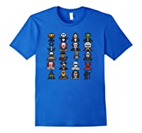 Friends Cartoon Halloween Character Scary Horror Movies Pullover Shirts Royal Blue