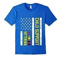 Child Support Veteran Tshirt Veteran Day Gift Pullover Royal Blue