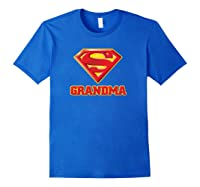 Superman Super Grandma Pullover Shirts Royal Blue