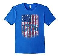 Betsy Ross Shirt 4th Of July American Flag Tshirt 1776 Royal Blue